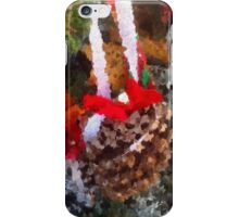 Red ribben pine cone iPhone Case/Skin