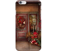 Winter - Store - Metuchen, NJ - Dressed for the holidays iPhone Case/Skin