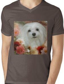 Snowdrop the Maltese - Bright Eyes Mens V-Neck T-Shirt