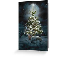 All Is Calm. All Is Bright. (Winter Guardian / Winter Reindeer - Night)  Greeting Card