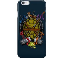 Turtle Family Crest - Full Color iPhone Case/Skin