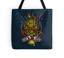 Turtle Family Crest - Full Color Tote Bag
