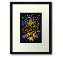 Turtle Family Crest - Full Color Framed Print