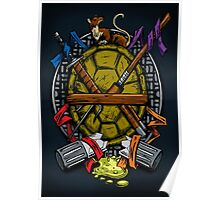 Turtle Family Crest - Full Color Poster
