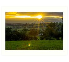 The Setting Sun (2) - Sunset in Ireland Art Print