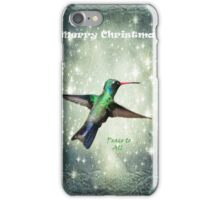 Christmas Hummingbird iPhone Case/Skin
