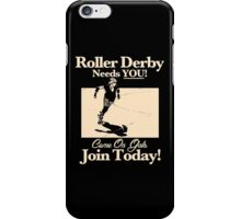Roller Girl Recruitment Poster (Vintage Black) iPhone Case/Skin