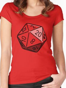 Simple D20 Women's Fitted Scoop T-Shirt