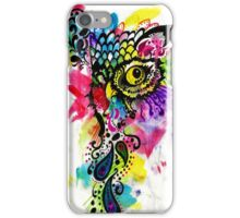Abstract eared owl iPhone Case/Skin