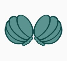 Green Big Seashell Bra by dupabyte