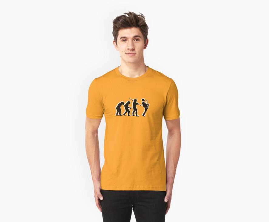 evolution of jazz t-shirt by parko
