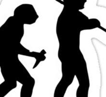 evolution of jazz t-shirt Sticker