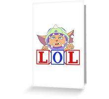 Gnar goes rawr Greeting Card