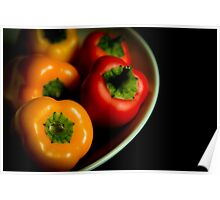 Colorful peppers Poster