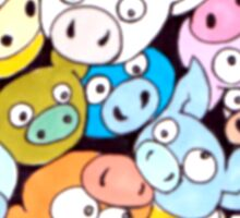 The Crowded Oink! Sticker