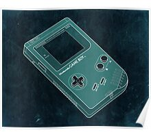 Distressed Gameboy Blue/Green Poster