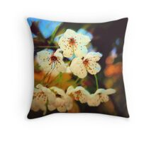 Canvas Blossoms... Throw Pillow