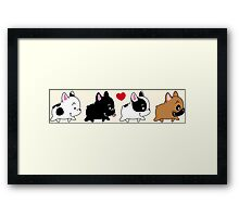 Frenchie Familly Framed Print