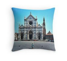 A child in Florence - Basilica of Santa Croce Throw Pillow
