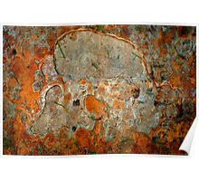 Rusted Bark Abstract Poster
