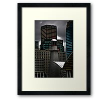 At Sea In The City Framed Print