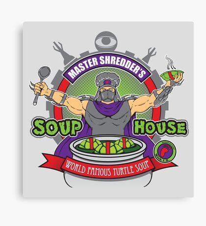 TMNT Master Shredder's Soup House Canvas Print