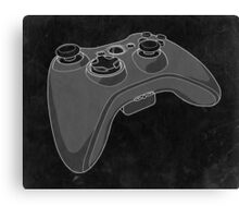 Distressed XBOX 360 Controller in Black and White Canvas Print