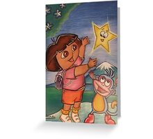 Dora & Boots Greeting Card
