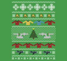 Captain's Christmas Sweater + Card T-Shirt
