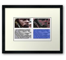 Coloured army man Framed Print