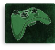 Distressed XBOX 360 Controller in Green Canvas Print