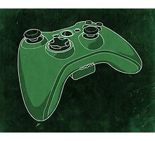 Distressed XBOX 360 Controller in Green Photographic Print