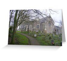 Seaton town church Greeting Card