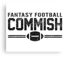 Fantasy Football Commish Canvas Print