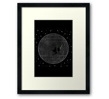 Warlord and green alien bike ride Framed Print