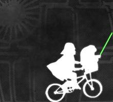 Warlord and green alien bike ride Sticker
