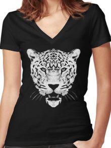 jaguar t-shirts Women's Fitted V-Neck T-Shirt