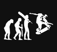 evolution of skateboard on dark t-shirt by parko