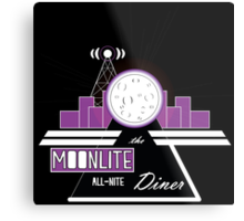 The Moonlite All-Nite Diner Metal Print