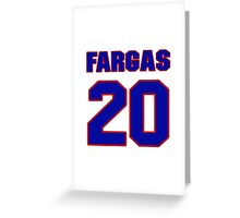 National football player Justin Fargas jersey 20 Greeting Card