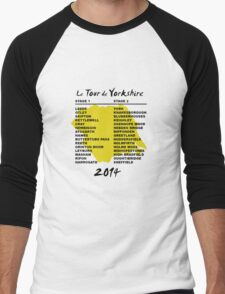 Tour de Yorkshire 2014 Front Men's Baseball ¾ T-Shirt