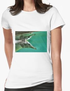 """The Penguin  (3) - Fantastic underwater photo of a penguin in """"flight"""" Womens Fitted T-Shirt"""