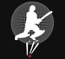 cricket t-shirt on dark by parko