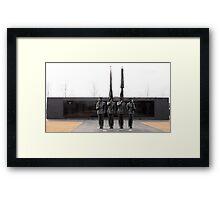 Air Force Memorial Statue Framed Print