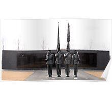 Air Force Memorial Statue Poster