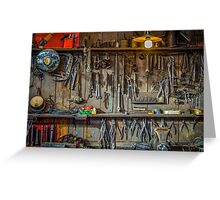 Vintage Tools Workshop Greeting Card
