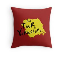 Le Tour de Yorkshire 3 Throw Pillow