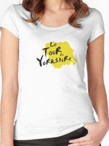 Le Tour de Yorkshire 3 Women's Fitted Scoop T-Shirt