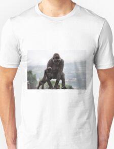 Gorgeous Father Son Gorilla Photo / Print - Amazing Animal Print Unisex T-Shirt