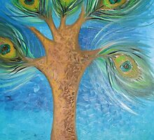 'the Famous Peacock Tree' by Shaida  Parveen